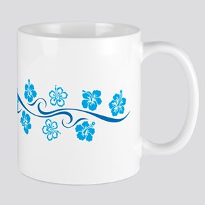Flower Wave Stripe Mug