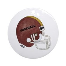Football Helmet Ornament (Round)