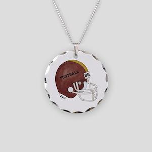 Football Helmet Necklace Circle Charm