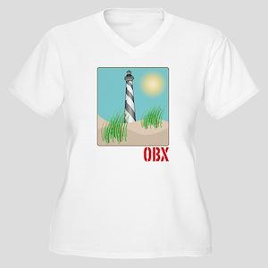 North Carolina - OBX Women's Plus Size V-Neck T-Sh