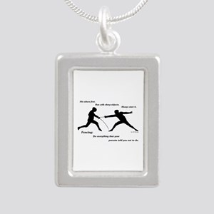 Hit First Silver Portrait Necklace