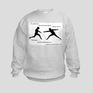 Hit First Kids Sweatshirt