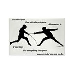 Hit First Rectangle Magnet (10 pack)