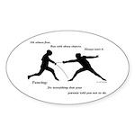 Hit First Sticker (Oval 50 pk)