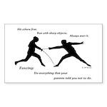 Hit First Sticker (Rectangle 50 pk)