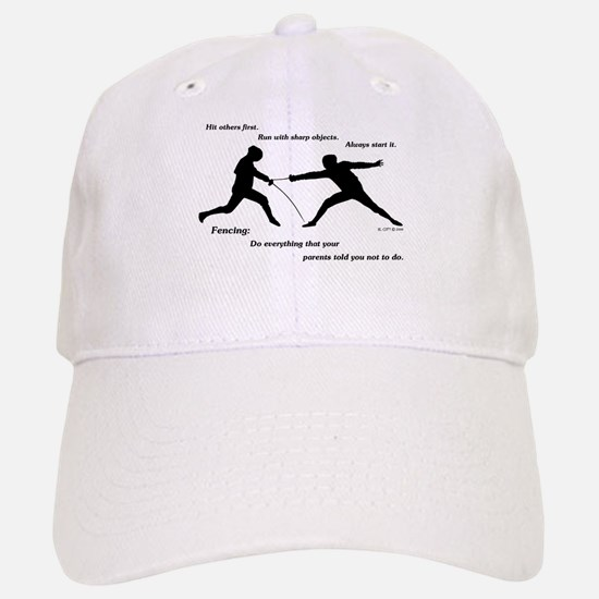 Hit First Baseball Baseball Cap