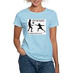 Beware of Short Fencers Women's Light T-Shirt
