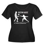 Beware of Short Fencers Women's Plus Size Scoop Ne