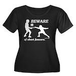 Beware of Short Fencers Women's Plus Size Scoop Ne