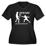 Beware of Short Fencers Women's Plus Size V-Neck D