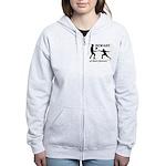 Beware of Short Fencers Women's Zip Hoodie