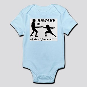 Beware of Short Fencers Infant Bodysuit