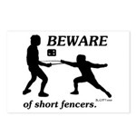 Beware of Short Fencers Postcards (Package of 8)