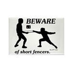 Beware of Short Fencers Rectangle Magnet (10 pack)