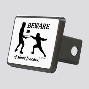Beware of Short Fencers Rectangular Hitch Cover