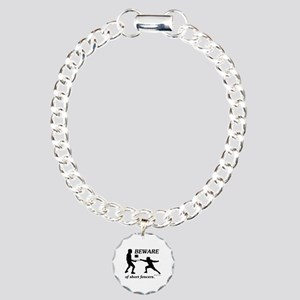 Beware of Short Fencers Charm Bracelet, One Charm