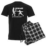Beware of Short Fencers Men's Dark Pajamas