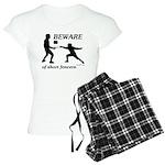 Beware of Short Fencers Women's Light Pajamas