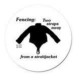 Straitjacket Round Car Magnet