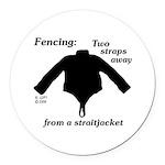 Straitjacket Round Car Magnet