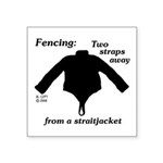 Straitjacket Square Sticker 3