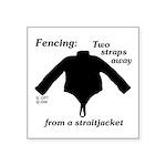Straitjacket Square Sticker 3