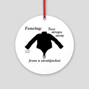 Straitjacket Ornament (Round)
