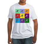 Pop Art Lunge Fitted T-Shirt