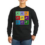 Pop Art Lunge Long Sleeve Dark T-Shirt