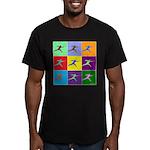 Pop Art Lunge Men's Fitted T-Shirt (dark)