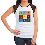 Pop Art Lunge Women's Cap Sleeve T-Shirt