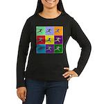 Pop Art Lunge Women's Long Sleeve Dark T-Shirt