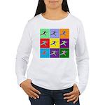 Pop Art Lunge Women's Long Sleeve T-Shirt