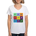 Pop Art Lunge Women's V-Neck T-Shirt
