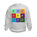 Pop Art Lunge Kids Sweatshirt