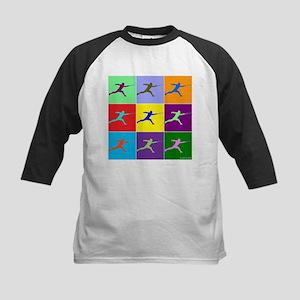 Pop Art Lunge Kids Baseball Jersey