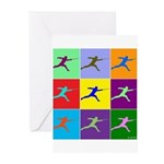 Pop Art Lunge Greeting Cards (Pk of 10)