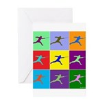 Pop Art Lunge Greeting Card