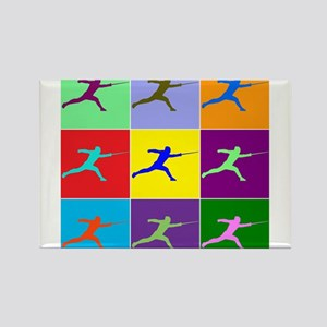 Pop Art Lunge Rectangle Magnet