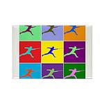 Pop Art Lunge Rectangle Magnet (100 pack)