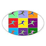 Pop Art Lunge Sticker (Oval 50 pk)