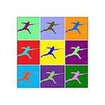 Pop Art Lunge Square Sticker 3