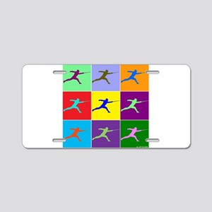Pop Art Lunge Aluminum License Plate
