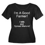 A Good Farmer Women's Plus Size Scoop Neck Dark T-