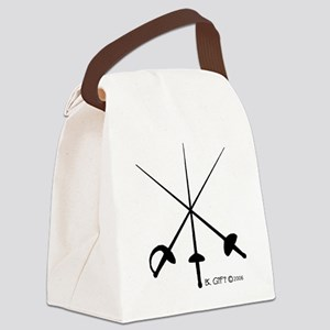 Three Weapon Canvas Lunch Bag
