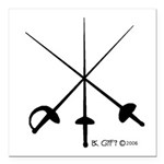 Three Weapon Square Car Magnet 3