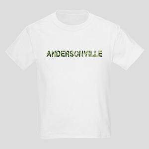 Andersonville, Vintage Camo, Kids Light T-Shirt