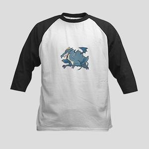 Blue Slate Dragon Kids Baseball Jersey