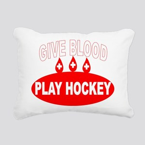 GIVE BLOOD Rectangular Canvas Pillow