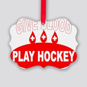 GIVE BLOOD Picture Ornament